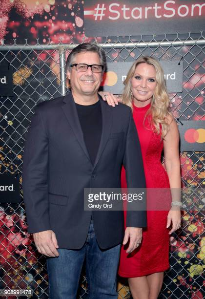 Photographer Kevin Mazur and Jennifer Mazur at Mastercard Celebrates the Start Something Priceless Campaign at the Launch of the Mastercard House on...