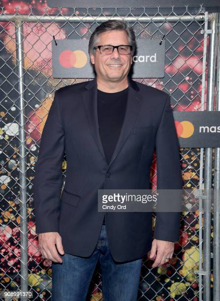 Photographer Kevin Mazur at Mastercard Celebrates the Start Something Priceless Campaign at the Launch of the Mastercard House on January 22 2018 in...