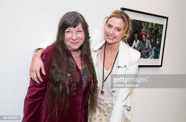 Photographer Kim Gottlieb-Walker and actress Estella Warren attend the Bob Marley: I And Eye, The Photos of Kim Gottlieb-Walker,1975-1976 - private...