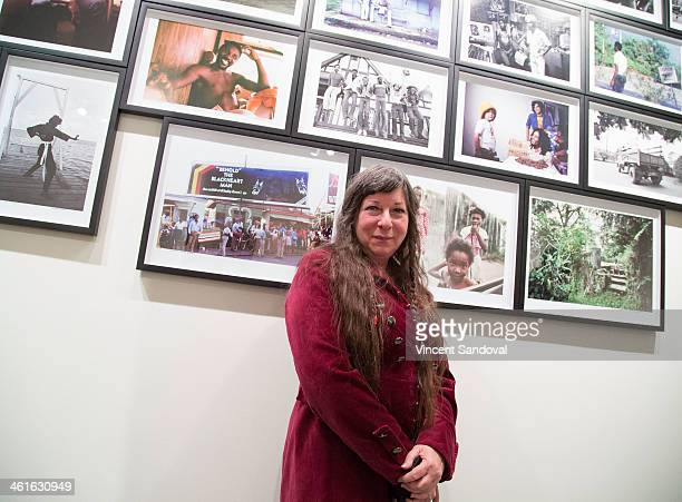 Photographer Kim Gottlieb-Walker attends the Bob Marley: I And Eye, The Photos of Kim Gottlieb-Walker,1975-1976 - private preview reception at KM...