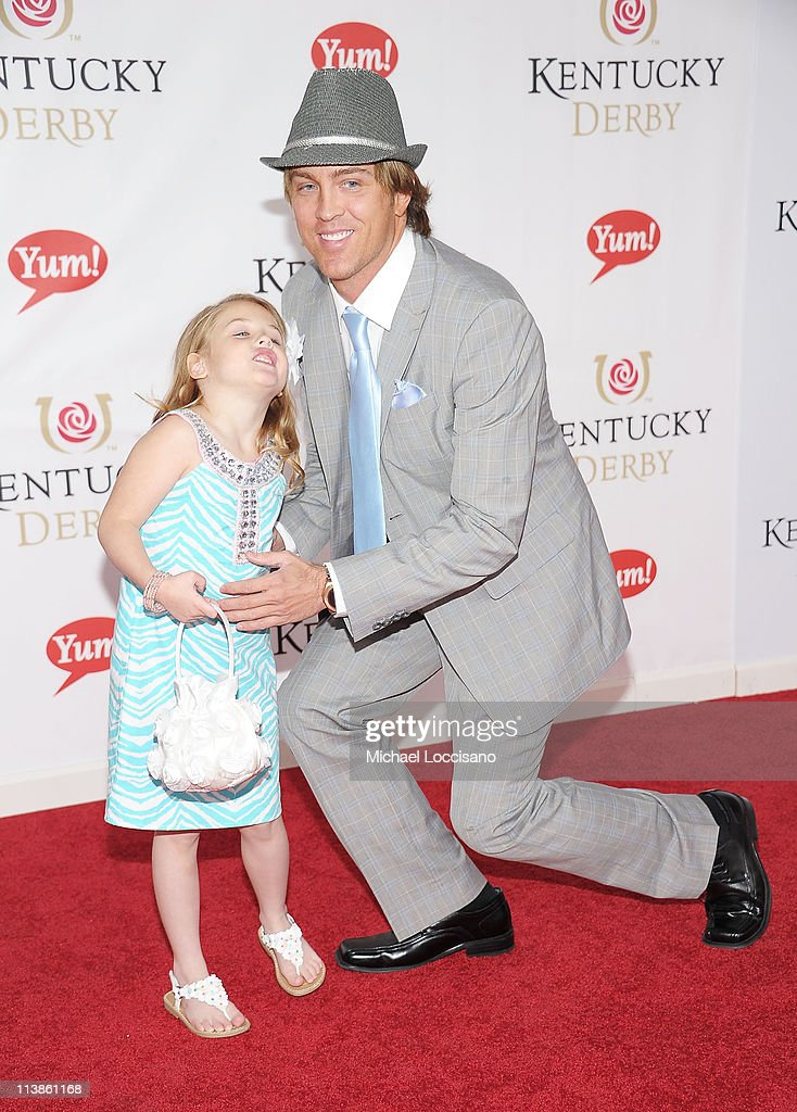 Photographer Larry Birkhead and daughter Dannielynn Birkhead attend the 137th Kentucky Derby at Churchill Downs on May 7, 2011 in Louisville, Kentucky.