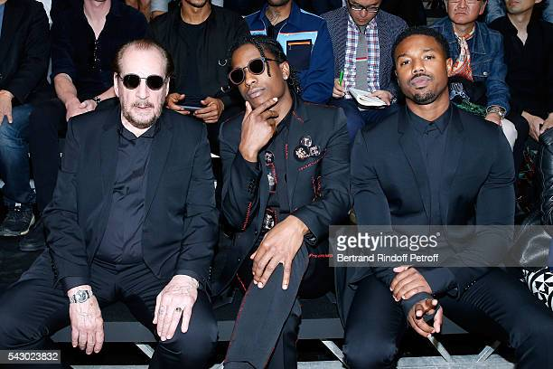 Photographer Larry Clark A$AP Rocky and Michael B Jordan attend the Dior Homme Menswear Spring/Summer 2017 show as part of Paris Fashion Week on June...