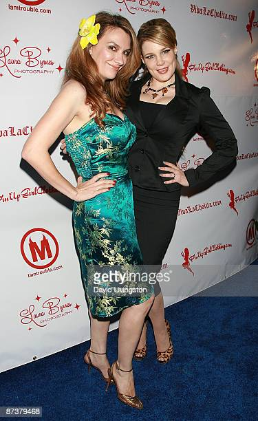 Photographer Laura Byrnes and author Lily Burana attend the Operation Bombshell benefit event at Trader Vic's on May 15 2009 in Los Angeles California