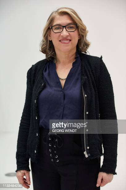"Photographer Lauren Greenfield poses for a photo during the press viewing of her exhibition ""Generation Wealth"" in Hamburg, northern Germany on March..."