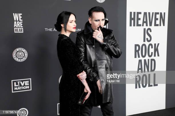 Photographer Lindsay Usich and Marilyn Manson attend The Art of Elysium's 13th Annual Heaven Gala at Hollywood Palladium on January 04 2020 in Los...