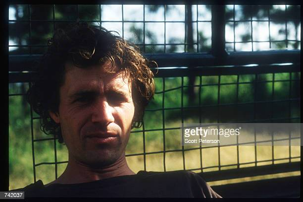 Photographer Luc Delahaye of SIPA/Magnum poses June 1994 in Rwanda Wellknown journalists descended on Rwanda during and after the genocide