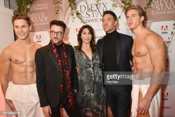 Photographer Ludovic Baron Eva Benhamou from from First Luxe Magazine and Maxime Dereymez from TV serial Danse avec Les Stars attend 'Les Dieux du...
