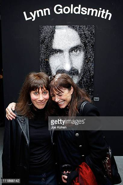 photographer Lynn Goldsmith and actress Karen Allen attends the opening reception of Within A Circle of Friends The Photography of Lynn Goldsmith at...