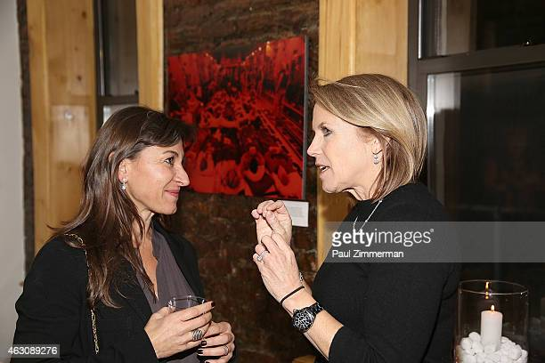 Photographer Lynsey Addario and Katie Couric attend the Lynsey Addario's Book Launch Party 'It's What I Do' on February 6 2015 in New York City