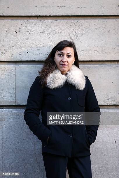 US photographer Lynsey Addario poses on March 2 2016 in Paris Her biography book untitled 'It's what I do' will be released on April 4 / AFP /...