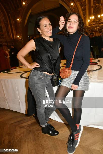 Photographer Mai Lucas and her daughter Taika Perello attend 'Les Fooding 2019' Ceremony at Le Train Bleu on November 12 2018 in Paris France