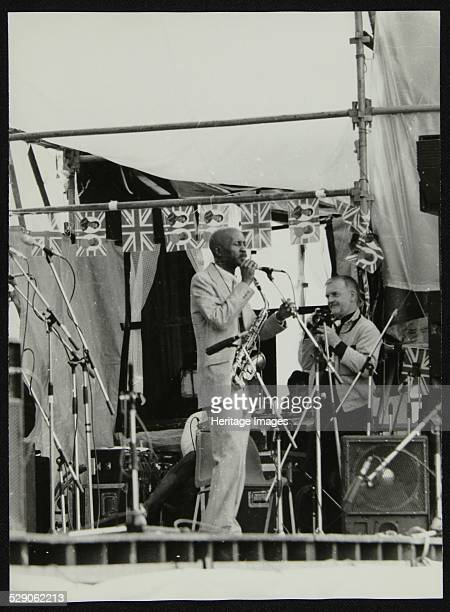 Photographer making a study of Eddie 'Cleanhead' Vinson at the Capital Radio Jazz Festival, held in the grounds of Knebworth House, Hertfordshire,...