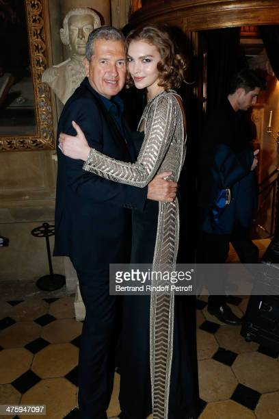 Photographer Mario Testino and Arizona Muse attending the Cocktail Dinatoire of German VOGUE in honor of Mario Testino at Restaurant 1728 on March 1...