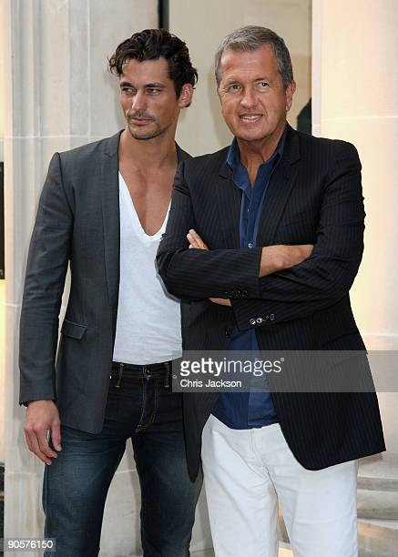 Photographer Mario Testino and model David Gandy attend Vogue and Burberry's cocktail reception as part of 'Fashion's Night Out' on September 10 2009...