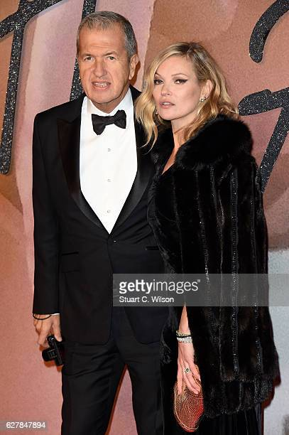 Photographer Mario Testino and model Kate Moss attend The Fashion Awards 2016 on December 5 2016 in London United Kingdom