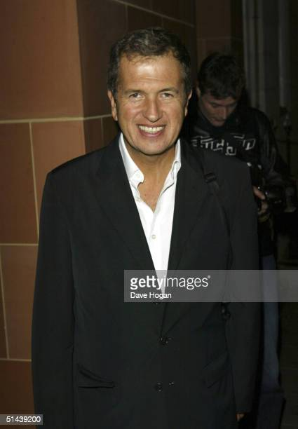 Photographer Mario Testino arrives at a dinner hosted by Donatella Versace at Cipriani, Davies Street on October 7, 2004 in London.