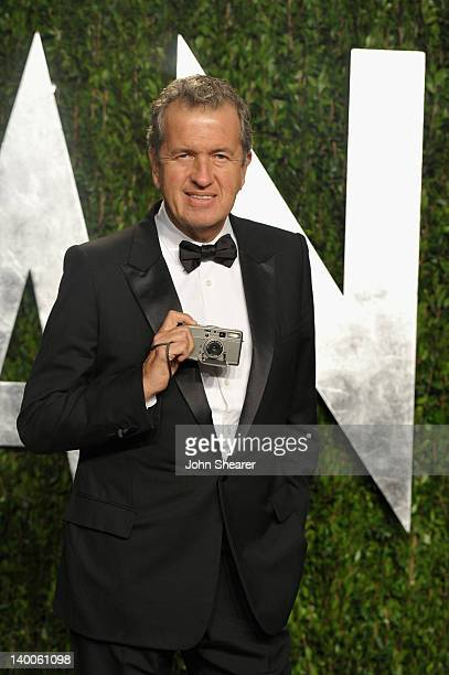 Photographer Mario Testino arrives at the 2012 Vanity Fair Oscar Party hosted by Graydon Carter at Sunset Tower on February 26 2012 in West Hollywood...
