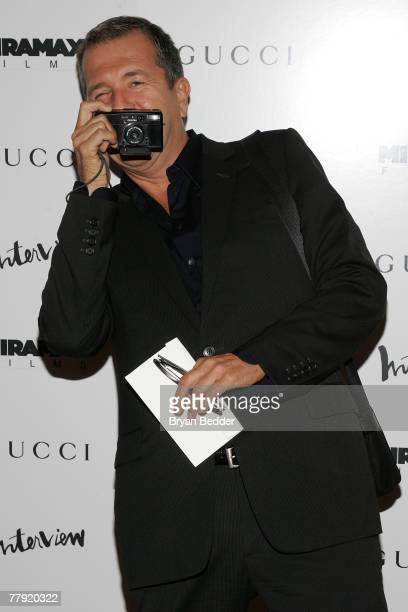 """Photographer Mario Testino arrives at the premiere of """"The Diving Bell And The Butterfly"""" at the Ziegfeld Theater on November 14, 2007 in New York..."""