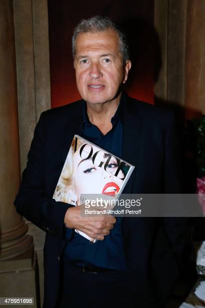 Photographer Mario Testino attending the Cocktail Dinatoire of German VOGUE in honor of Mario Testino at Restaurant 1728 on March 1 2014 in Paris...