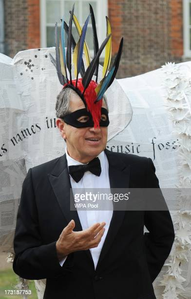 Photographer Mario Testino attends a reception hosted by Prince Charles Prince of Wales and Duchess of Cornwall a charity working to save the Asian...