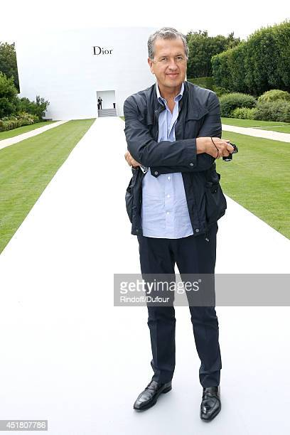 Photographer Mario Testino attends the Christian Dior show as part of Paris Fashion Week Haute Couture Fall/Winter 20142015 Held at Musee Rodin on...