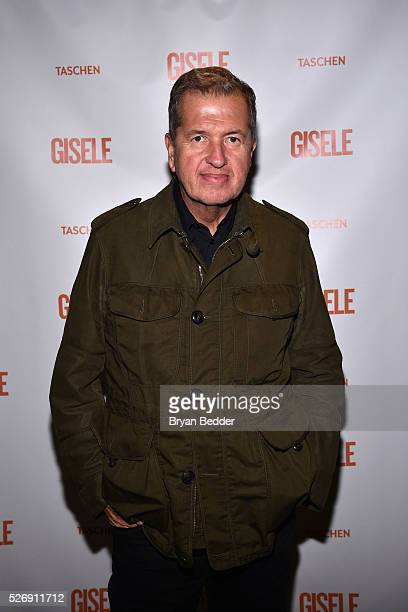 Photographer Mario Testino attends the Gisele Bundchen Spring Fling book launch on April 30 2016 in New York City