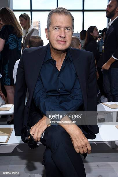 Photographer Mario Testino attends the Michael Kors Spring 2016 Runway Show during New York Fashion Week The Shows at Spring Studios on September 16...
