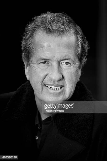 Photographer Mario Testino is photographed on February 23 2015 while attending Burberry Porsum Fashion show in London England