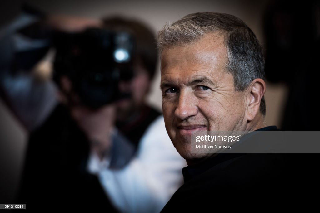 Photographer Mario Testino poses prior to the opening of the exhibition 'Mario Testino. Undressed/Helmut Newton. Unseen/Jean Pigozzi. Pool Party' at Museum of Photography on June 1, 2017 in Berlin, Germany.