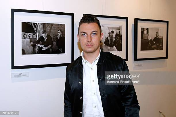 Photographer Matt Helders attends Iggy Pop 'Post Depression' Art Pictures Exhibition at French Paper Gallery on May 14 2016 in Paris France