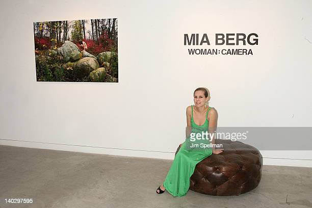 Photographer Mia Berg Attends Gallery 151 Presents Woman Camera Opening Reception At