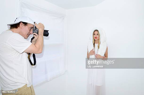 Photographer Michael Bezjian photographs actress AnnaLynne McCord as Mayasutra hosts The Starving Artists Project on February 3 2015 in Los Angeles...