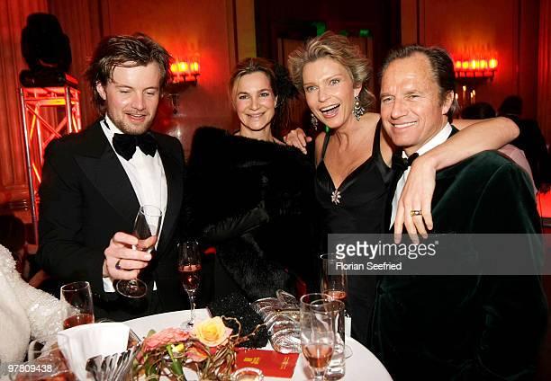 Photographer Michael von Hassel and girlfriend actress Alexandra Kamp and Stephanie von Pfuel and boyfriend Hendrik te Neues attend the Russian...