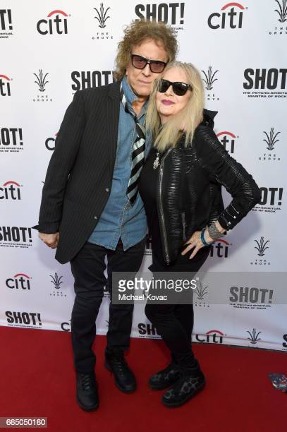 Photographer Mick Rock and director Penelope Spheeris attend the screening for SHOT The Psycho Spiritual Mantra of Rock at The Grove presented by...