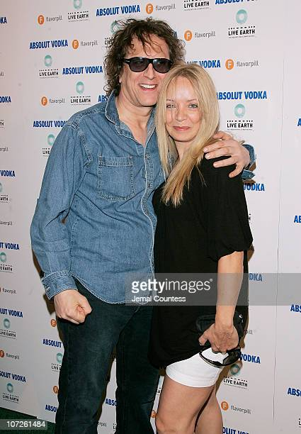 Photographer Mick Rock and wife Pati Rock at The Official Live Earth After Party hosted by ABSOLUT Vodka and Flavorpill held at the Maritime Hotel on...