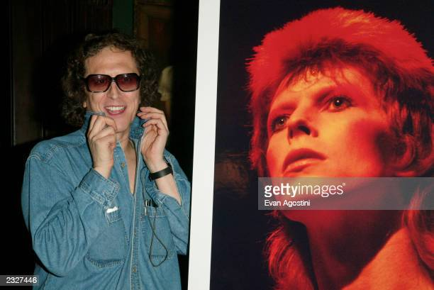 """Photographer Mick Rock at the """"MOONAGE DAYDREAM: The Life and Times of Ziggy Stardust"""" book party at The National Arts Club in New York City. July..."""