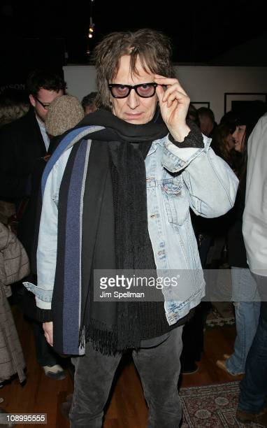 Photographer Mick Rock attends 'The Art of the Guitar Photography of Jonathan Singer' press preview on February 10 2011 in New York