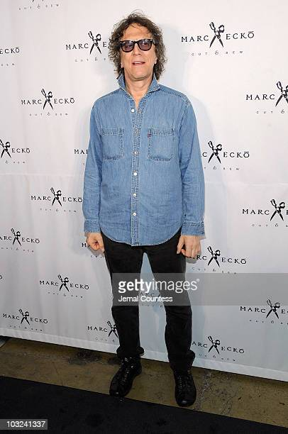 Photographer Mick Rock attends the Marc Ecko Cut Sew Fall Campaign Launch at Milk Studios on August 4 2010 in New York City