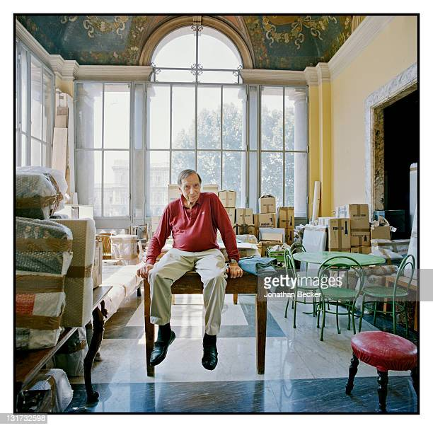 Photographer Milton Gendel is photographed in his new apartment in the Palazzo Primoli for Vanity Fair Magazine on June 17, 2011 in Rome, Italy....