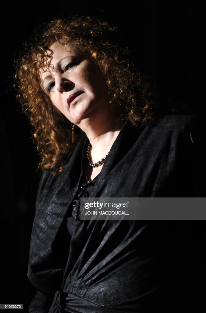 US photographer Nan Goldin addresses a press conference during the presentation to the press of her exhibition 'Poste Restante, Slideshows/Grids' in Berlin October 9, 2009. The show runs from October 10 to December 6, 2009.