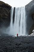 Photographer near the waterfall