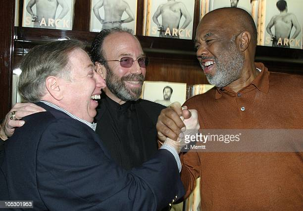 Photographer Neil Leifer entertainment manager Bernie Yuman and Howard Bingham during Taschen Books Takes Los Angeles at Tascchen Book Store in...