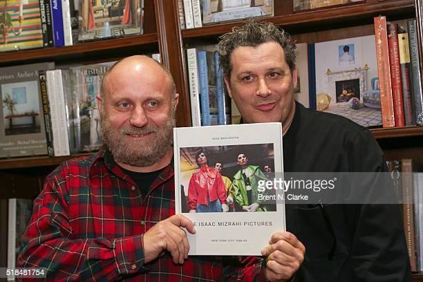 Photographer Nick Waplington and fashion designer Isaac Mizrahi attend the Isaac Mizrahi Pictures New York City 19892003 book celebration held at...