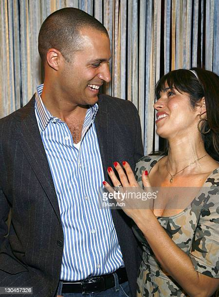 Photographer Nigel Barker and actress Ana Ortiz attend Charles Nolan Fall 2008 during MercedesBenz Fashion Week at Bryant Park on February 1 2008 in...