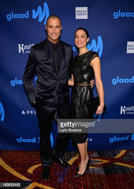 Photographer Nigel Barker and Cristen Barker and attends the 24th Annual GLAAD Media Awards on March 16 2013 in New York City