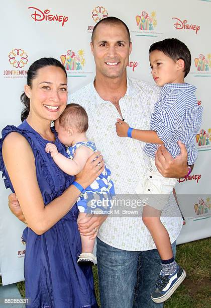Photographer Nigel Barker and his wife Cristen Chin Barker with their children Jack and Jasmine Ines arrives at A Time for Heroes Celebrity Carnival...