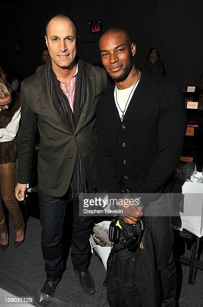 Photographer Nigel Barker and model Tyson Beckford attend the Whitney Eve Fall 2012 fashion show during MercedesBenz Fashion Week at The Studio at...