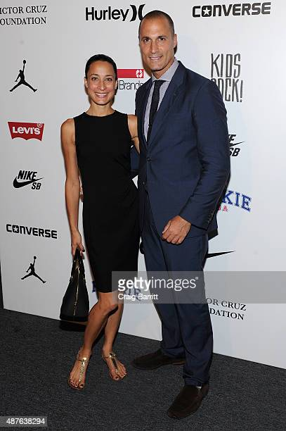 Photographer Nigel Barker and wife Cristen Barker attend the Nike/Levi's Kids Rock fashion show during Spring 2016 New York Fashion Week at the The...
