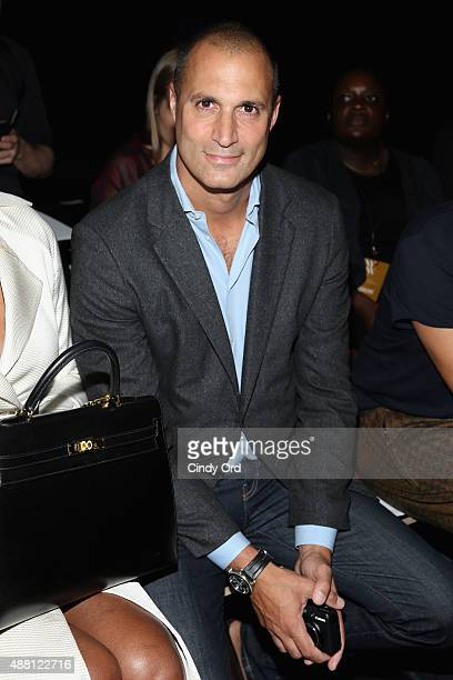 Photographer Nigel Barker attends Georgine Spring 2016 during New York Fashion Week The Shows at The Dock Skylight at Moynihan Station on September...