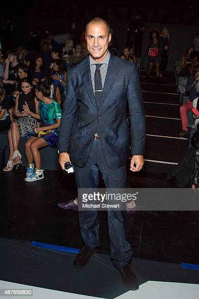 Photographer Nigel Barker attends the Desigual fashion show during Spring 2016 New York Fashion Week at The Arc, Skylight at Moynihan Station on...